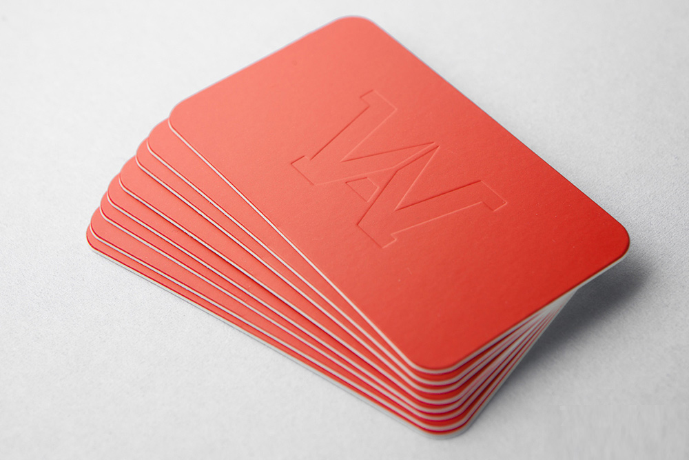 Blind Debossed Business Cards