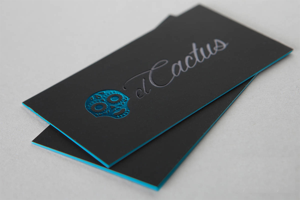 teal foil stamping - Foil Stamped Business Cards