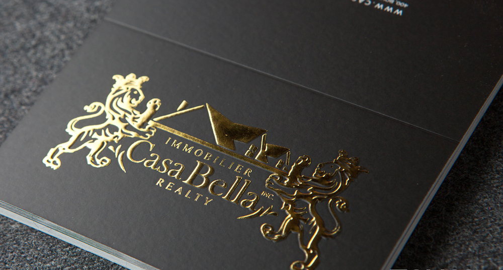 Foil Stamping Business Cards - Luxury Cards Canada