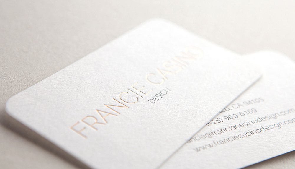 Foil stamping business cards luxury cards canada gold foil business bards reheart Image collections