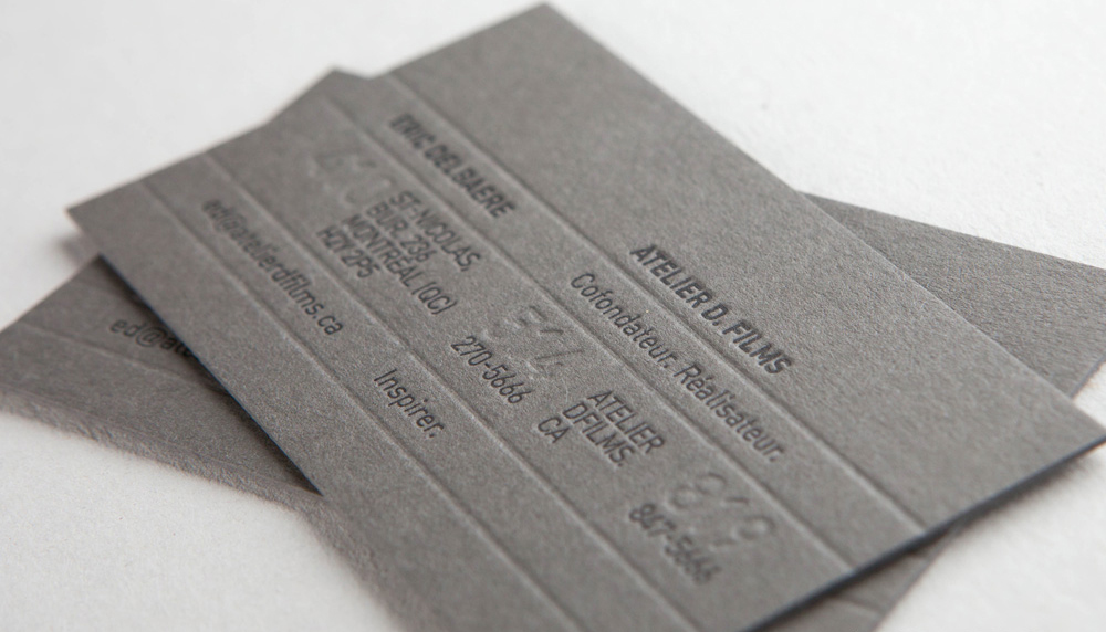 Letterpress Grey Cards
