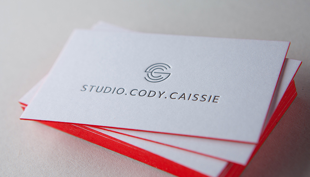 Colored Edges Business Cards